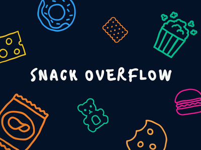 Snack OverFlow intro 2d cookies bouncy fun animation adobe colorful creative flat motion cartoon snack food icons introduction dark intro