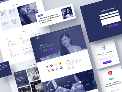 Lady Leet Personal website webdesign ux ui purple simple minimal icons landingpage layout figma graphic design clean branding adobe