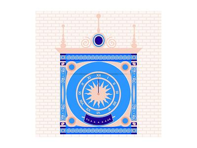 Gros Horloge - Rouen vector print freelance scenes portfolio illustration design