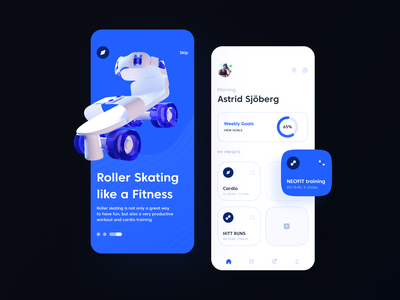 Sports App ux clean white onboarding cards goals minimal mobile app mobile ui 3d design sports app