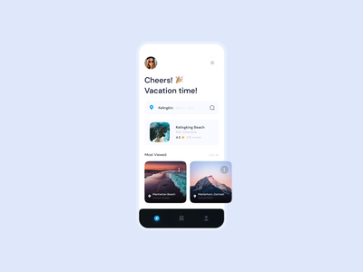 Travel App Animation ✈️ ocean sea travel uianimation animation design typography minimal mobile app mobile transition animation clean app ux ui