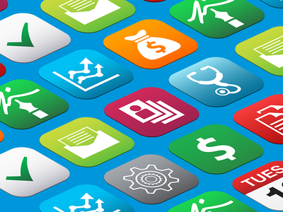 New CareCloud App Icons app icons carecloud perspective debut illustration