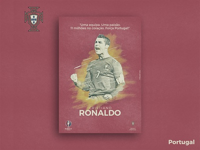 Retro Poster Collection - Cristiano Ronaldo digital art vintage texture photoshop illustration collection poster color retro pattern football euro 2016