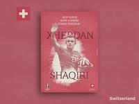 Retro Poster Collection - Xherdan Shaqiri