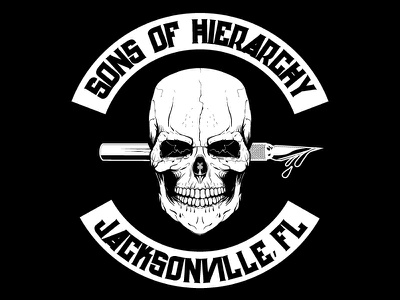 WIP Sons of Hierarchy Shirt Design skull vector wip t-shirt screenprint