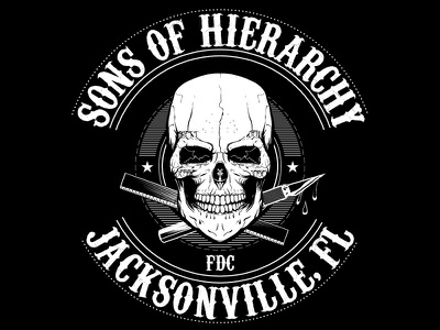 Sons of Hierarchy WIP skull vector wip t-shirt screenprint aiga field day graphic design xacto