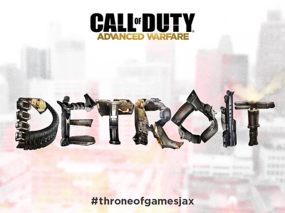 Throne of Games Promo, Detroit photoshop vector clipping