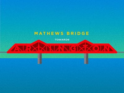 John Otto, take it to the Mathews Bridge florida jacksonville limp bizkit illustrator photoshop color vibration typography grain vector