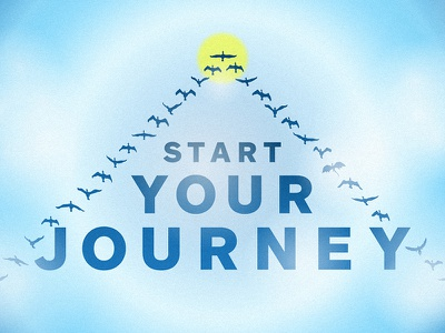 Start Your Journey simple and clean composition gradients everywhere gradients illustrator powerpoint vector birds