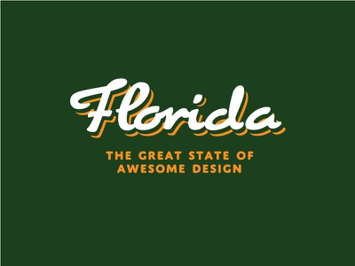 Florida, the great state of awesome design! florida typography