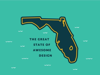 The Great State of Awesome Design, Florida! illustration florida vector