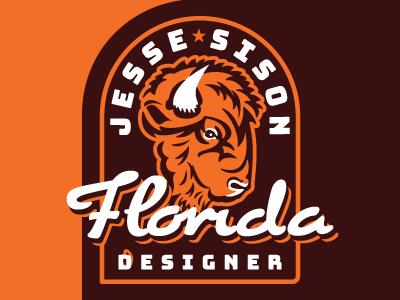 Bison badge, personal branding