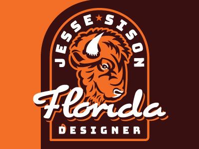 Bison badge, personal branding branding logo vector typography illustration