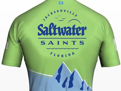 Cycling Team Branding: Saltwater Saints Jersey design florida vector logo illustration sticker design typography branding