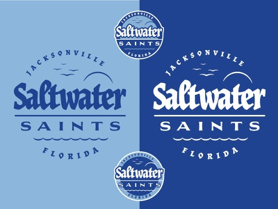 Cycling Team Branding: Saltwater Saints logo sheet sticker design badgedesign logo florida design vector illustration branding typography