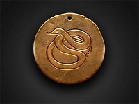 Copper Snake Talisman