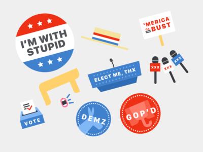 Election 2016 Stickers 🇺🇸 vote republican democrat sticker government election