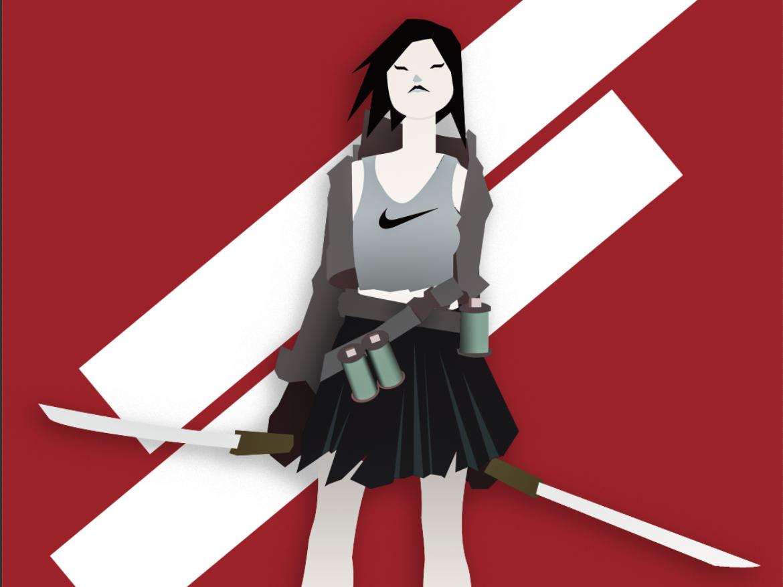 Chickcommando Korea korea japanese food girl swords character concept design scifi cyberpunk illustration photoshop