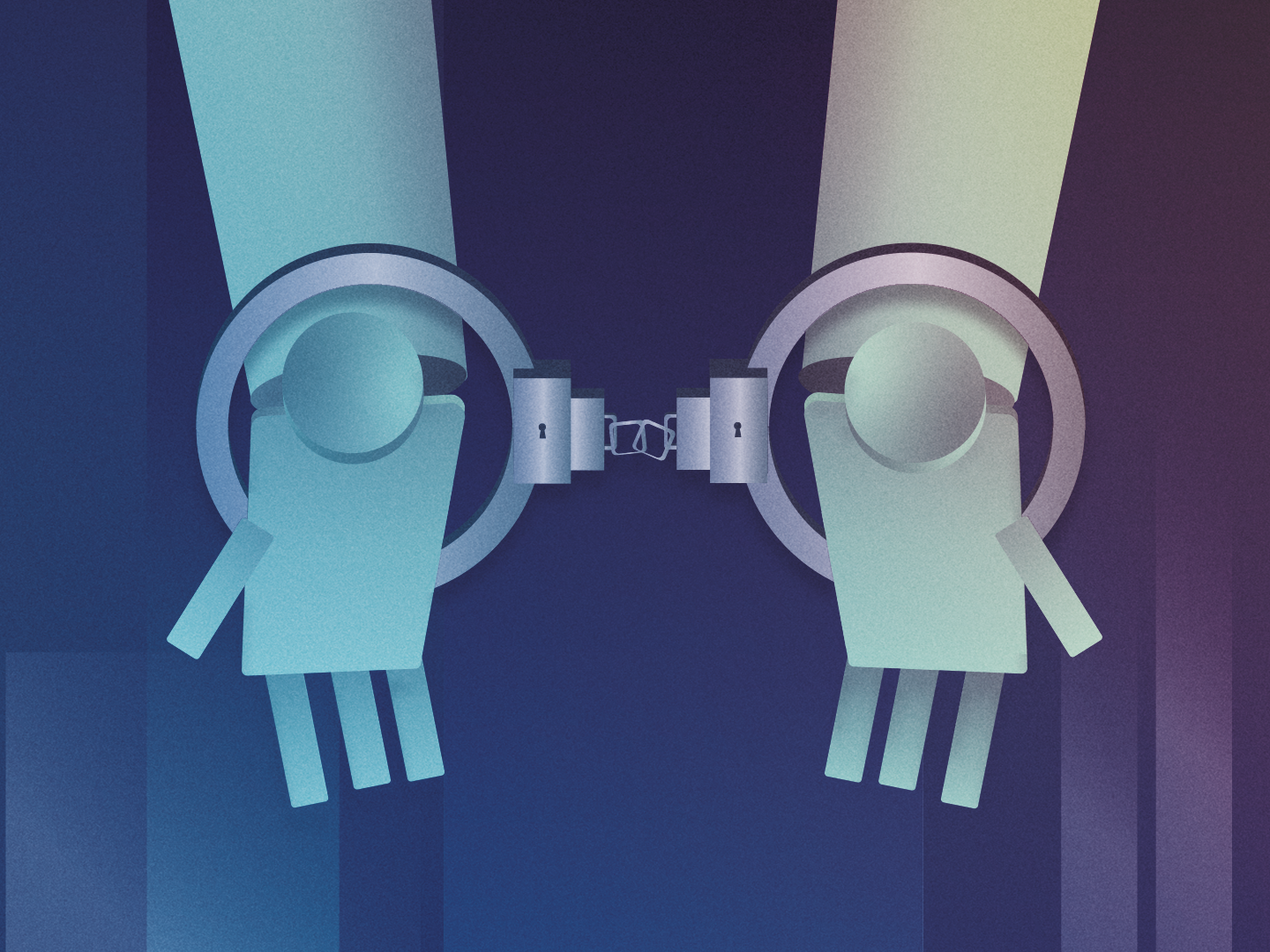 Handcuff that robot sketch storyboard character art photoshop illustration