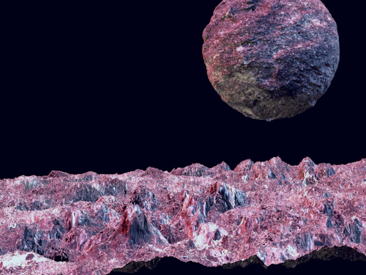 Screenshot 2019 05 29 At 14.07.17 retro cyberpunk planets scans c4d material design 3d planet scifi photoshop