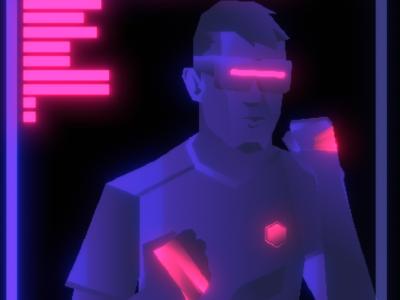 AR game menu illustration