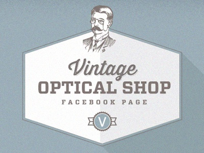 Vintage Optical Shop Infograph