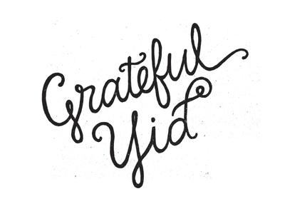 Grateful Yid Lettering