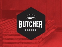 Butcher Backed stamp