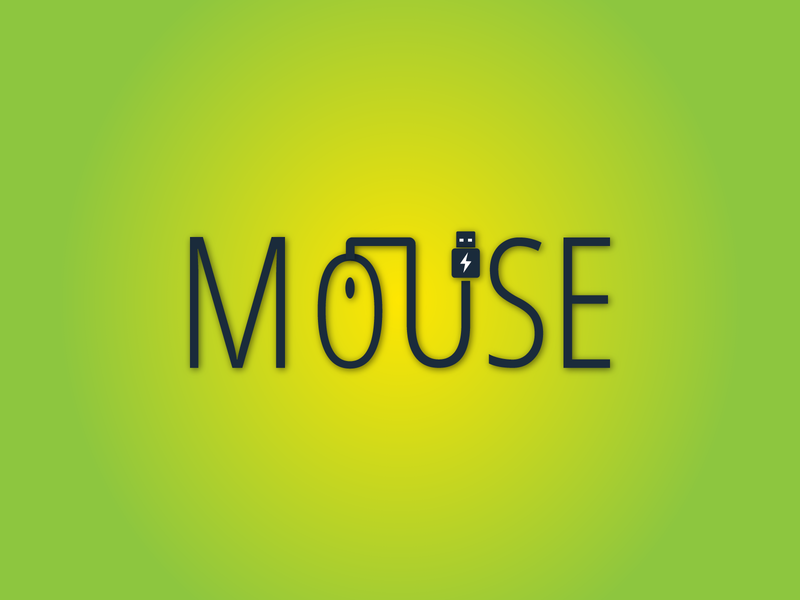 Mouse logo design abstract web lettering typography illustration identity icon branding logo design