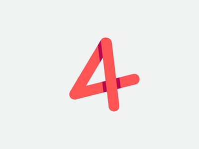 A4 logo design symbol visual design clean creative a logo app morern 4 website vector typography minimal illustration identity icon branding logo design