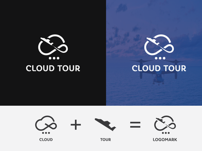 Cloud & Tour combination logo design identitydesign brand art clean concept ভ্রমণ bromon traveling travel tour cloud modern lettering abstract vector illustration identity icon branding logo design
