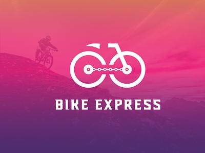 Bike Express logo design logo design concept logo branding logos graphics logo brand logo brand mark logo branding deisgn logotype express android logo art abstract vector minimal identity icon branding design logodesign logo bike