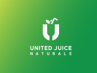 United Juice Restaurant logo food juice simple script symbol animation sketch ui design modern android logo abstract illustration typography minimal identity icon design branding logo restaurant logo