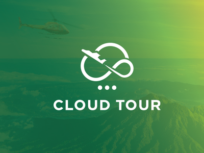 Cloud tour logo design brand identity branding design brand brand design colorful colors creative helikapter tours tourist cloud hosting cloud app icons identity icon branding design logo tour cloud