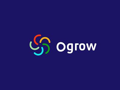 Ogrow identity design illustration vector minimal top logo quality logo best logo modern logo modern grow logo branding grow design grow logo ogrow grow