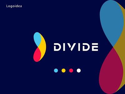 Divide icon vector identity graphic design logo maker logo make logo concept brand logo branding colorfull modern logo divide divide logo