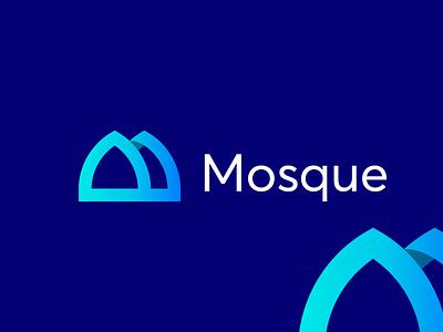 Mosque modern logo logofolio art idea art graphic design ui vector minimal icon identity logo design colorfull moder logo idea top logo best logo quality logo m latter branding logo idea modern mosque mosque logo