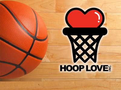Hoop Love Inc. logo basketball mental health for hire graphic design