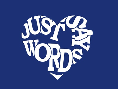 Just Say Words Heart Illustration