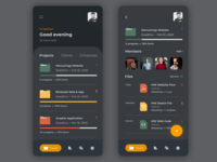 Project Management App Dark Mode