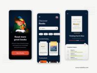 Book Reading App color illustration branding ui design ux ui reading mobile minimal clean card book app design app
