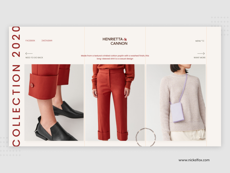 Cannon Fashion Store business userinterface branding ux ui shop online minimal clean fashion website web ecommerce brand