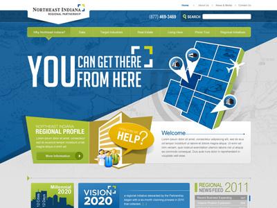 Neirp Project business ui indiana bright colorful 3d web design corporate web ui grey blue green website map web design