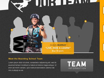 Profile Concept grey rotator profile web website web design orange wakeboard tool tip