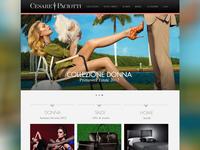 Cesare Paciotti Concept Website