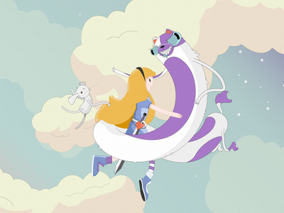 Alice in adventure time adventuretime characters aliceinwonderland art vector illustration