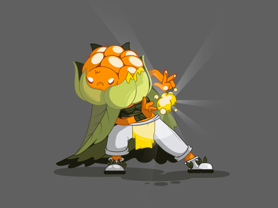 Autumn warrior flat characters design art vector illustration