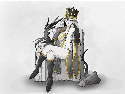 The Young Princess graphic digital flat design art illustration