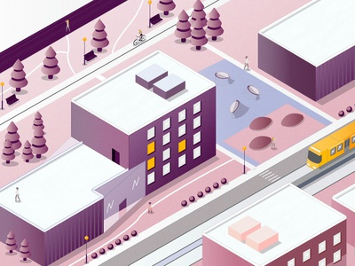 New university vector design illustration