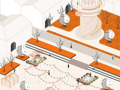 Urban art urbanplanning architecture vector illustration design
